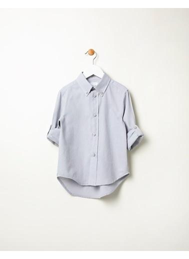 Pinolini Gri Oxford Gömlek Gri